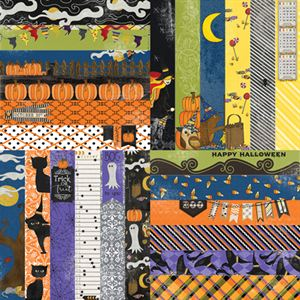 "Picture of Frightful & Furry by Lauren Hinds 2"" Border Strips: Frightful Halloween- Set 12"